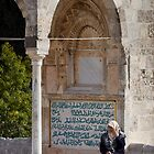 Lady at the Dome of the Rock by Tony Roddam