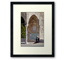 Lady at the Dome of the Rock Framed Print