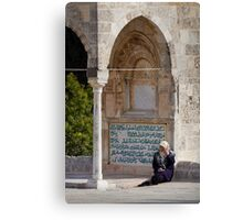 Lady at the Dome of the Rock Canvas Print