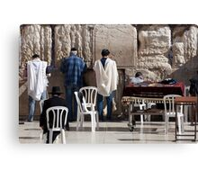 Prayer at the Wailing Wall Canvas Print