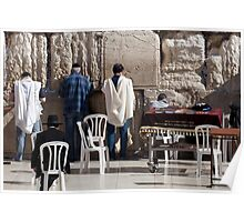 Prayer at the Wailing Wall Poster