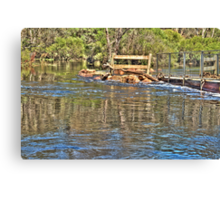 Reflections of a Flood Canvas Print