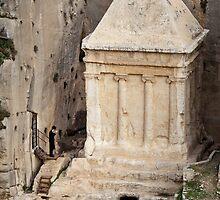 Prayer at a prophet's tomb, Jerusalem by Tony Roddam