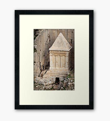 Prayer at a prophet's tomb, Jerusalem Framed Print