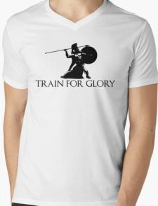 Train For Glory Mens V-Neck T-Shirt