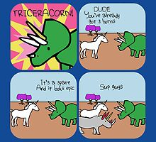 Triceracorn (Horned Warrior Friends comic) by jezkemp