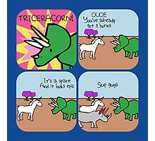 Triceracorn (Horned Warrior Friends comic) Photographic Print