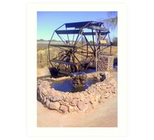 Waterwheel (Bakkiespomp)  Art Print
