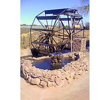 Waterwheel (Bakkiespomp)  Photographic Print