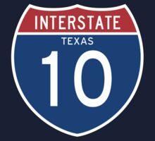 Interstate Sign 10 Texas, USA One Piece - Short Sleeve