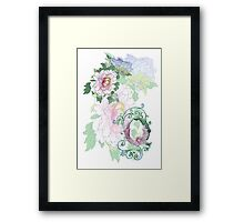 19th C. Peonies, Monogram Q Framed Print