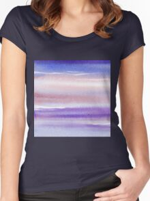Pearly Sky Abstract III Women's Fitted Scoop T-Shirt