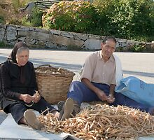 Shelling Fava, Parque Natural Da Serra Da Estrela,  Beira Baixa, Portugal by Andrew Jones