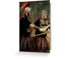 Gladiators Greeting Card
