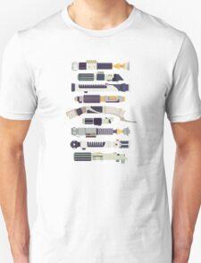 Sabers - Star Wars Inspired Minimalist Infographic Unisex T-Shirt