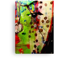 Berry Blossoms with Face  Canvas Print
