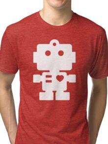 Robot - mageneta & white Tri-blend T-Shirt