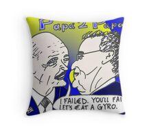 binary options cartoon news - Two Greek Papas Throw Pillow