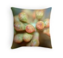Colourful Buds Throw Pillow