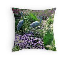 Cranes Throw Pillow