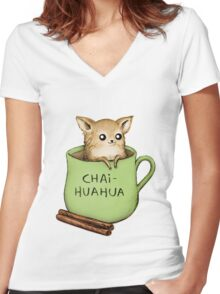 Chaihuahua Women's Fitted V-Neck T-Shirt