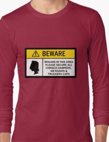 Caution - Bogans Long Sleeve T-Shirt