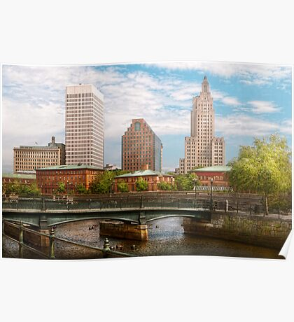 City - Rhode Island - Providence - The city of Providence, RI Poster
