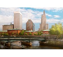 City - Rhode Island - Providence - The city of Providence, RI Photographic Print