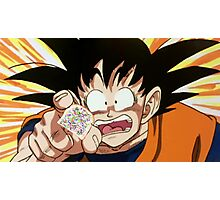 Goku, reaching for the last of the fairy bread Photographic Print