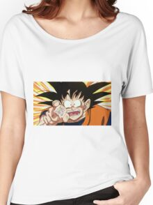 Goku, reaching for the last of the fairy bread Women's Relaxed Fit T-Shirt
