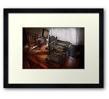 Steampunk - Typewriter - The secret messenger  Framed Print