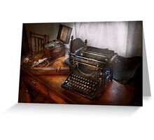 Steampunk - Typewriter - The secret messenger  Greeting Card
