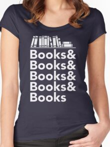 Books | Literary Book Nerd Helvetica Typography Women's Fitted Scoop T-Shirt