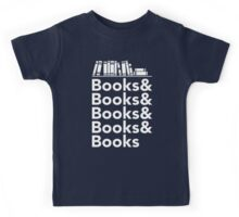 Books | Literary Book Nerd Helvetica Typography Kids Tee