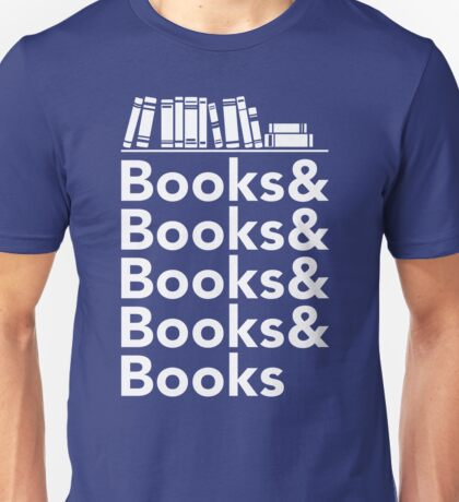 Books | Literary Book Nerd Helvetica Typography Unisex T-Shirt