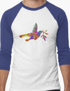 Peace Dove Men's Baseball ¾ T-Shirt