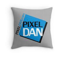 Pixel Dan Logo Throw Pillow