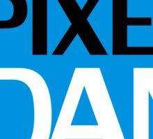 Pixel Dan Logo Sticker