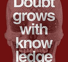 Doubt grows with knowledge  Goethe by alphaville