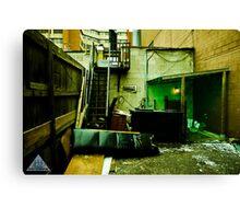 Green Garage Canvas Print