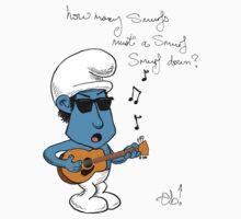 Smurf Dylan by thunderbloke