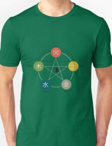 Five Elements / Phases Poster (Wu Xing) T-Shirt