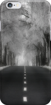 Winter road - iPhone case by Britta Döll