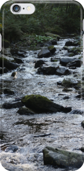 Where peaceful waters flow - iPhone case by Britta Döll