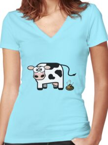 Oops... I Pooped! Women's Fitted V-Neck T-Shirt