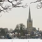 Norwich Cathedral Snow by Nicholas Jermy