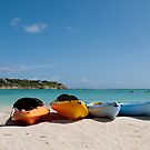Kayaks on beach by luissantos84
