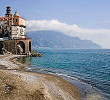 Beach scene, Minori, Amalfi Coast, Italy by Andrew Jones