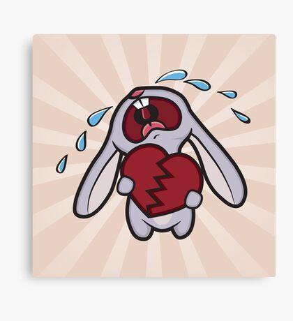 Broken Hearted Bunny Canvas Print