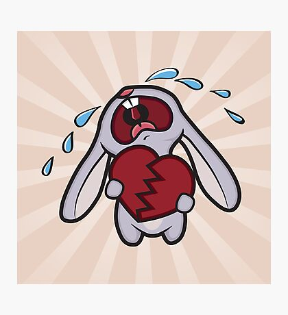 Broken Hearted Bunny Photographic Print
